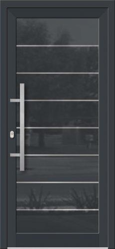 Hliníkové dvere so sklo-hliníkovou výplňou Evolution Inox EV-1000 IX s antikorom