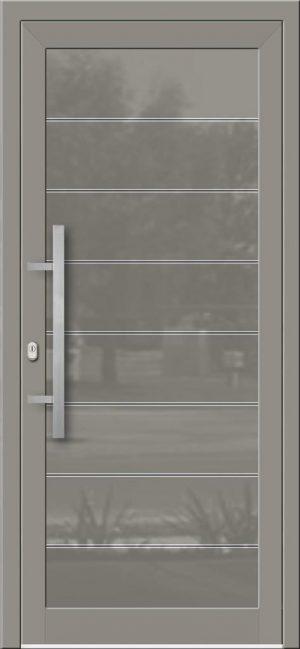 Hliníkové dvere so sklo-hliníkovou výplňou Evolution Inox EV-1001 IX s antikorom