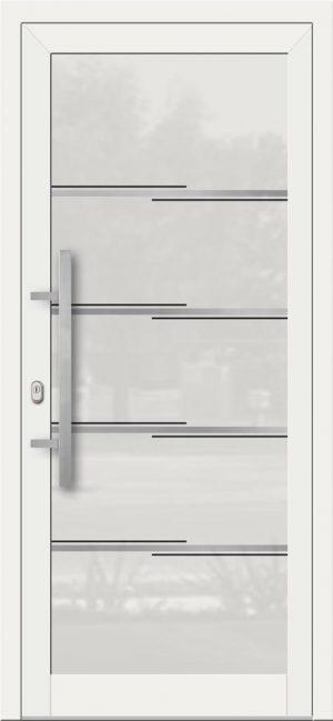 Hliníkové dvere so sklo-hliníkovou výplňou Evolution Inox EV-1002 IX s antikorom