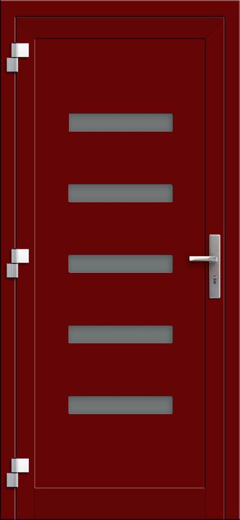 Hliníkové dvere so sklo-hliníkovou výplňou Evolution INOX EV-1003 (interiérový pohľad)