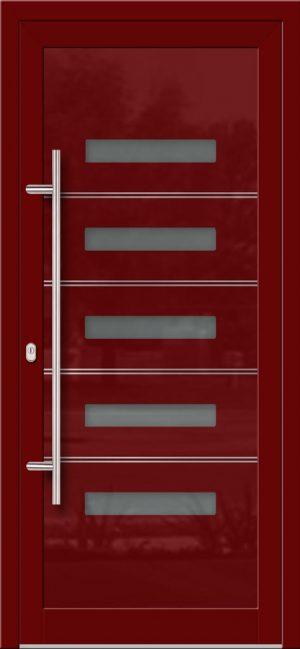 Hliníkové dvere so sklo-hliníkovou výplňou Evolution Inox EV-1003 s antikorom