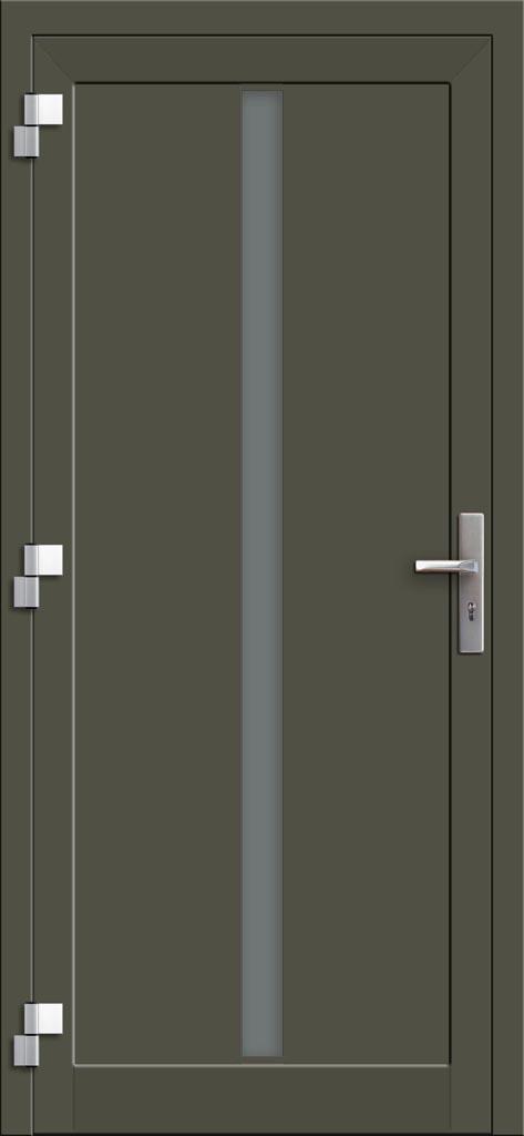 Hliníkové dvere so sklo-hliníkovou výplňou Evolution INOX EV-1004 (interiérový pohľad)