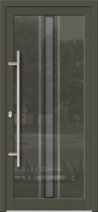 Hliníkové dvere so sklo-hliníkovou výplňou Evolution Inox EV-1004 s antikorom