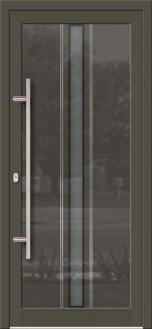 Hliníkové dvere so sklo-hliníkovou výplňou Evolution Inox EV-1004 IX s antikorom