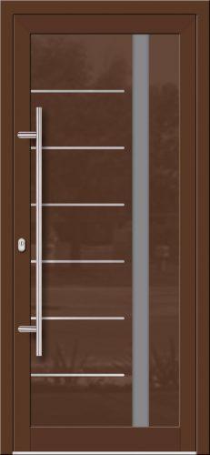 Hliníkové dvere so sklo-hliníkovou výplňou Evolution Inox EV-1005 IX s antikorom