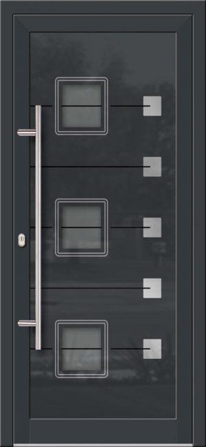 Hliníkové dvere so sklo-hliníkovou výplňou Evolution Inox EV-1006 IX s antikorom
