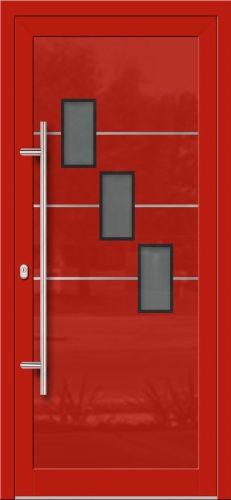 Hliníkové dvere so sklo-hliníkovou výplňou Evolution Inox EV-1007 s antikorom