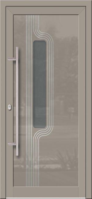Hliníkové dvere so sklo-hliníkovou výplňou Evolution Inox EV-1008 IX s antikorom