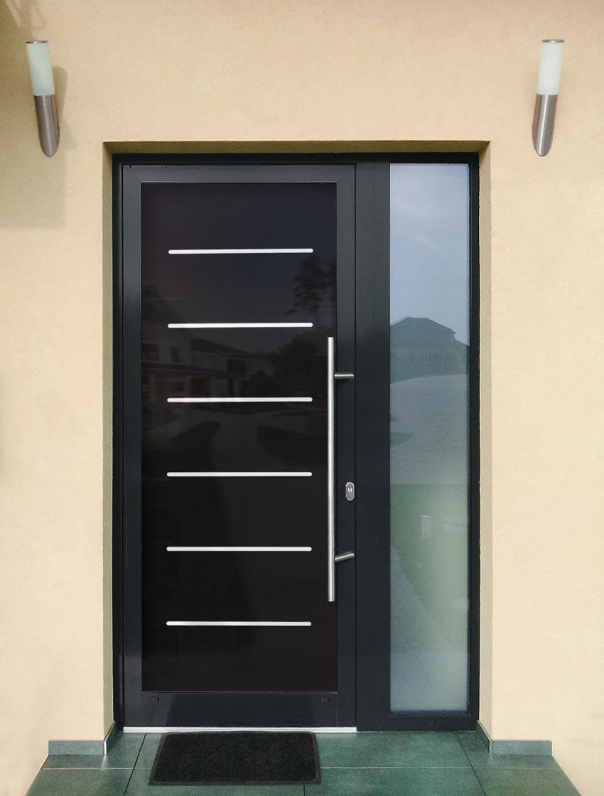 Hliníkové dvere sklo-hliníkovou dvernou výplňou Evolution EV-961