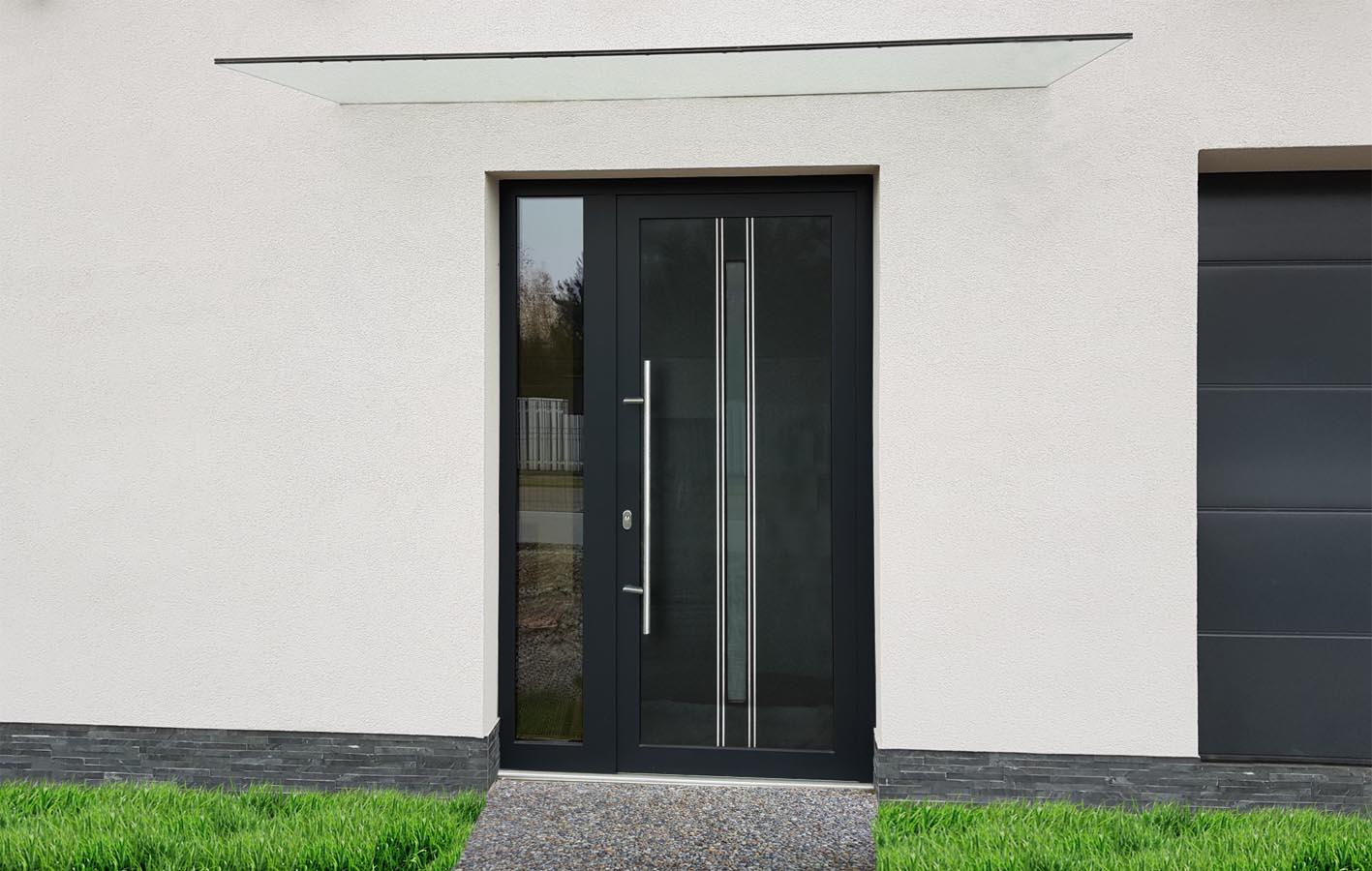 Hliníkové vchodové dvere s výplňou Evolution