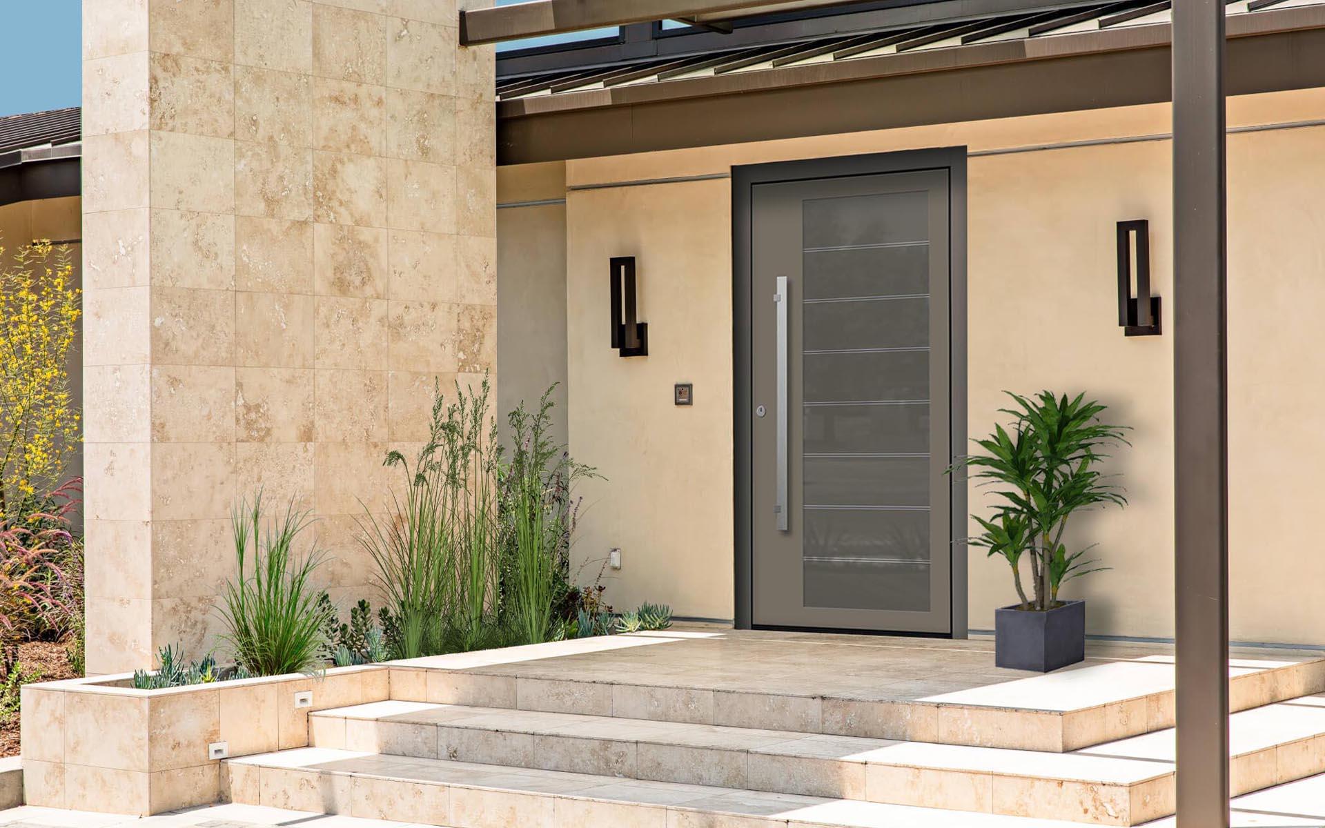 hliníkové vchodové dvere EV-1001IX