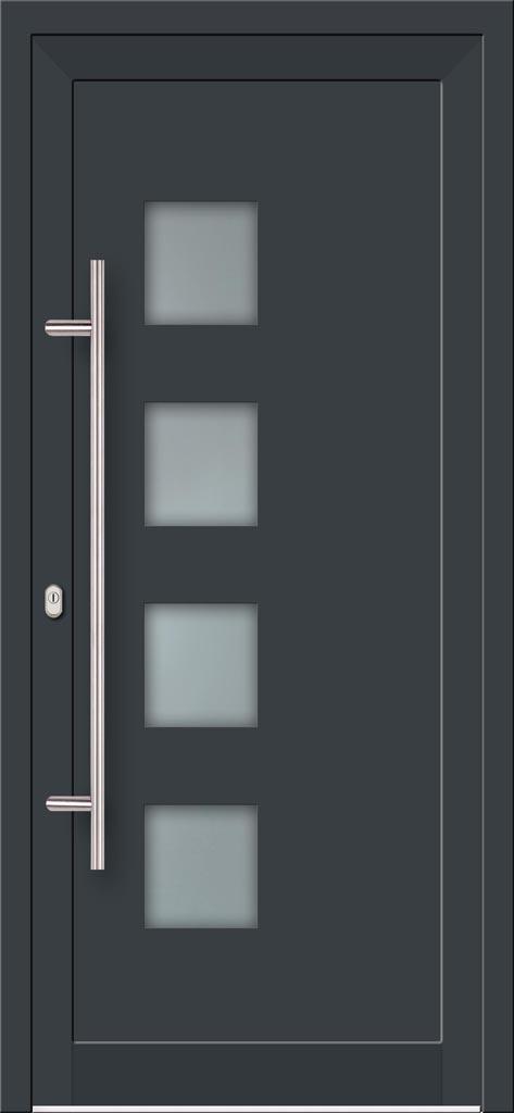 Vchodové hliníkové dvere do domu s hliníkovou výplňou typu Ultra Trend