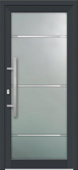 Hliníkové vchodové dvere s celosklenenou výplňou VV-850-GLi01 s integrovaným antikorom