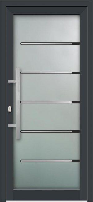 Hliníkové vchodové dvere s celosklenenou výplňou VV-850-GLi02 s integrovaným antikorom
