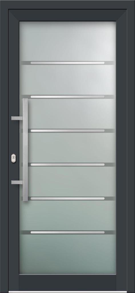 Hliníkové vchodové dvere s celosklenenou výplňou VV-850-GLi03 s integrovaným antikorom