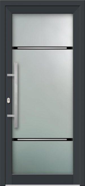 Hliníkové vchodové dvere s celosklenenou výplňou VV-850-GLi04 s integrovaným antikorom