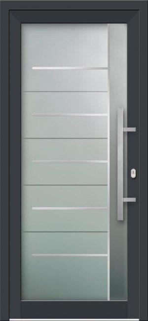 Hliníkové vchodové dvere s celosklenenou výplňou VV-850-GLi07 s integrovaným antikorom