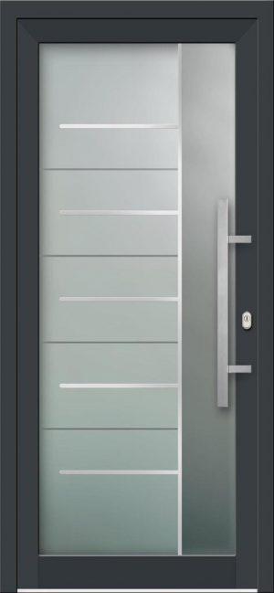 Hliníkové vchodové dvere s celosklenenou výplňou VV-850-GLi08 s integrovaným antikorom