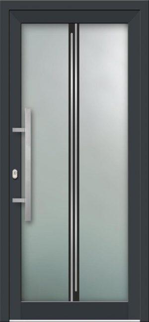 Hliníkové vchodové dvere s celosklenenou výplňou VV-850-GLi09 s integrovaným antikorom