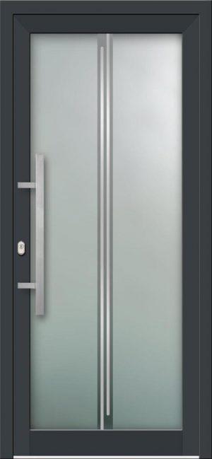 Hliníkové vchodové dvere s celosklenenou výplňou VV-850-GLi10 s integrovaným antikorom