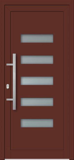 Vchodové hliníkové dvere do domu s hliníkovou výplňou AV-447
