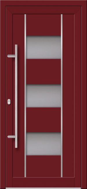 Vchodové hliníkové dvere s montážou do rodinného domu s hliníkovou výplňou typu Ultra Trend