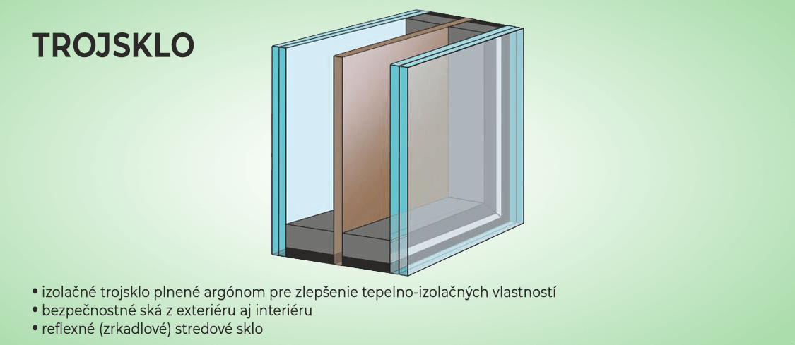 Hliníkové vchodové dvere s výplňou zo zrkadlového bronzového izolačného trojskla