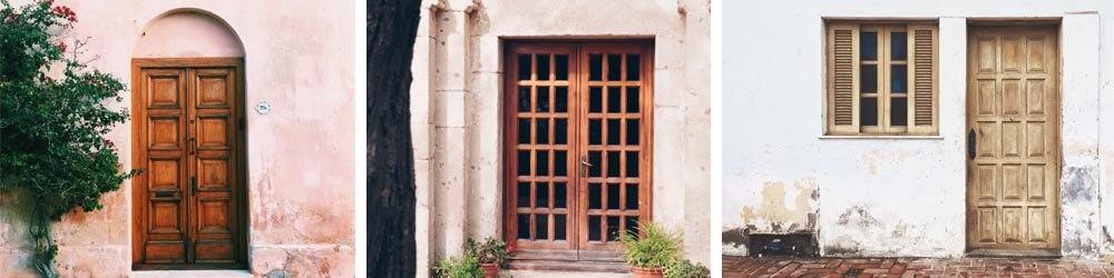 Príklad drevených dverí