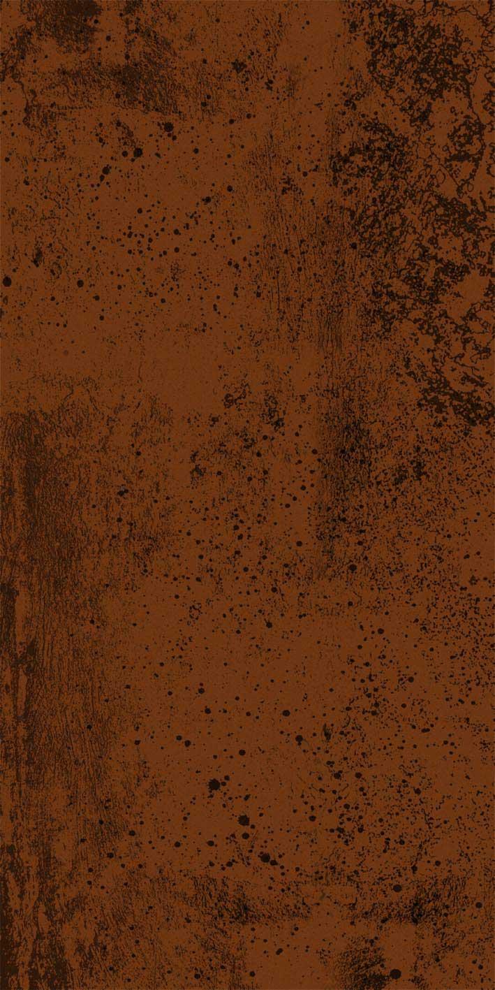 Hrdzavý kov industriálny dekor pre hliníkové vchodové dvere