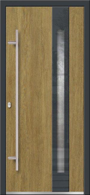 Vchodové hliníkové dvere s montážou do rodinného domu s hliníkovým prekrytým krídlom PRESTIGE