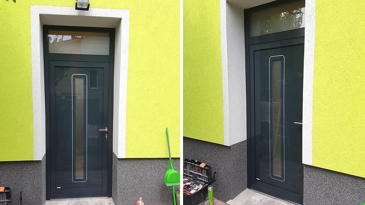 Hliníkové vchodové dvere EV-954 vo farbe antracit