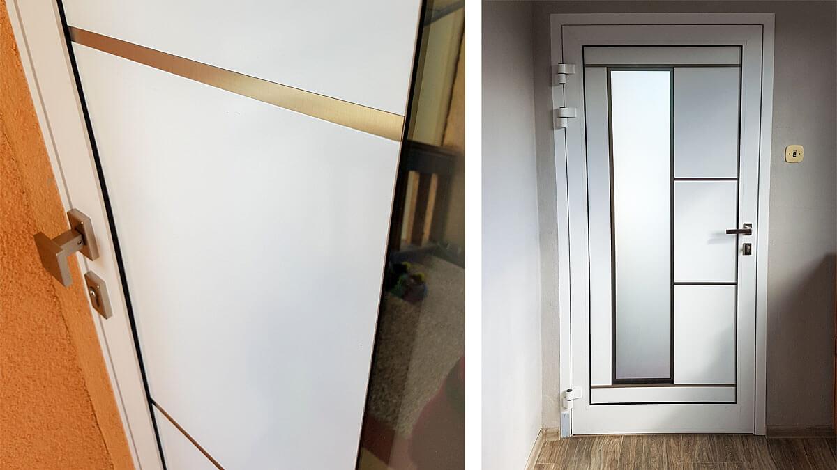 Hliníkové vchodové dvere AVI-792 vo farbe biela