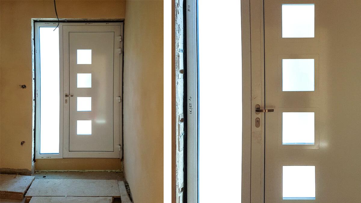 Hliníkové vchodové dvere AV-450 vo farbe antracit šedý