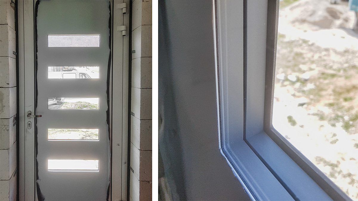 Hliníkové vchodové dvere AV-447 vo farbe biela RAL 9016 interiér