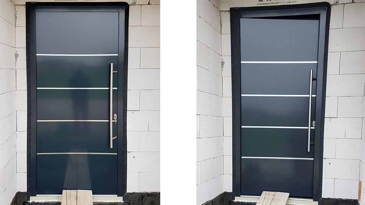 Hliníkové vchodové dvere AV-774 vo farbe antracit RAL 7016