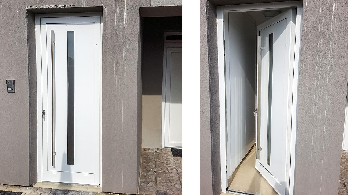 Hliníkové vchodové dvere AV-787 vo farbe biela RAL 9016