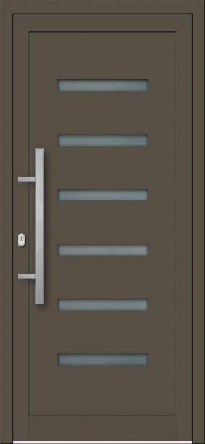 Vchodové hliníkové dvere do domu s hliníkovou výplňou