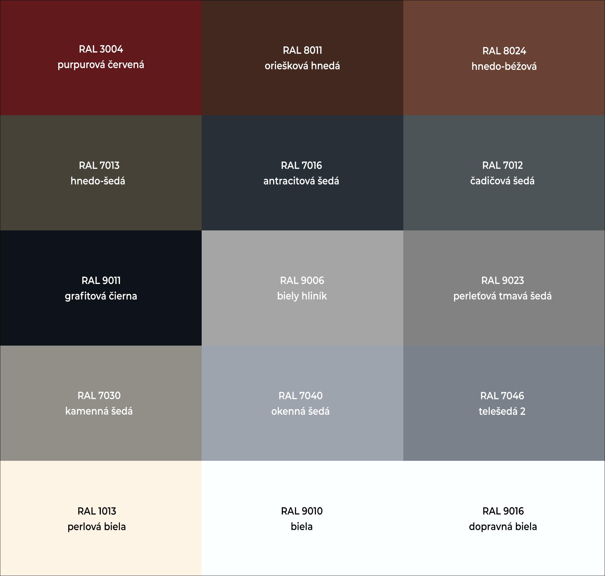 Populárne RAL farby pre hliníkové vchodové dvere do domu