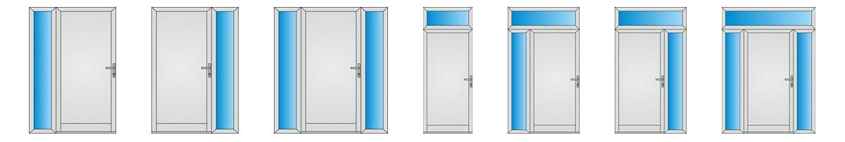 Bočné alebo horné svetlíky pre vchodové dvere