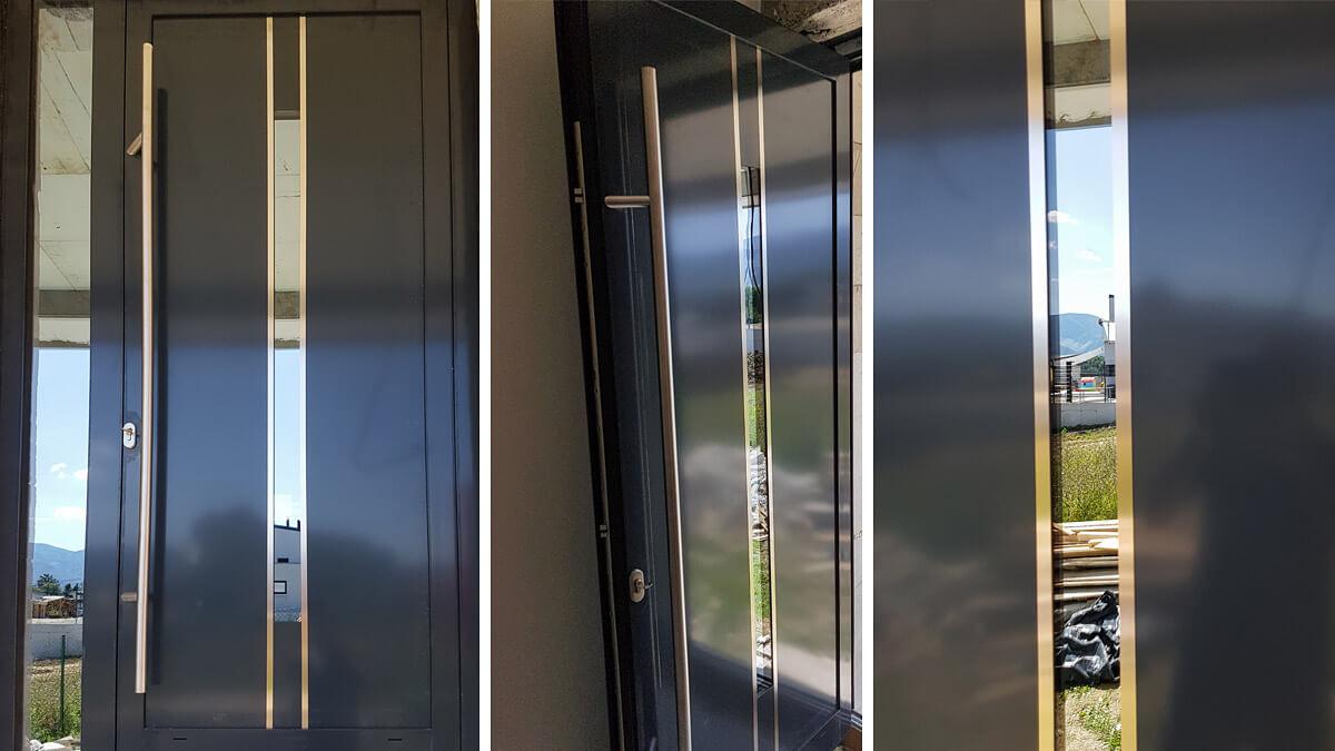 Hliníkové vchodové dvere AV-716 vo farbe antracit RAL 7016