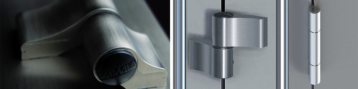 Závesy a pánty pre hliníkové vchodové dvere
