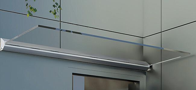 Sklenená strieška nad vchodové dvere z bezpečnostného skla