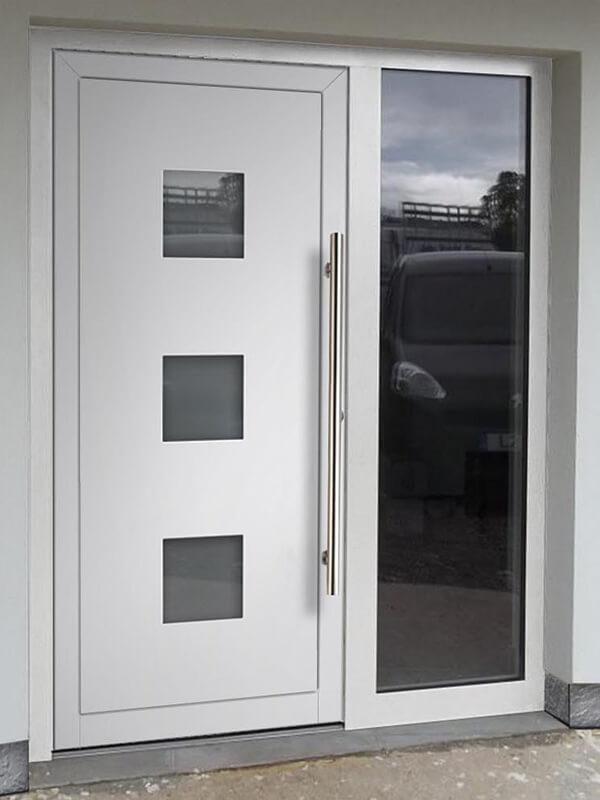 AV-244 hliníkové vchodové dvere s vloženou dvernou výplňou