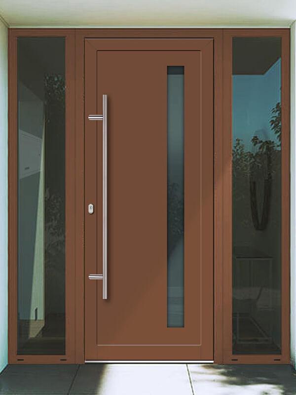 AV-431 hliníkové vchodové dvere s vloženou dvernou výplňou
