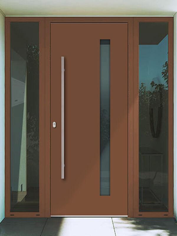 AV-431 hliníkové vchodové dvere s prekrytým krídlom
