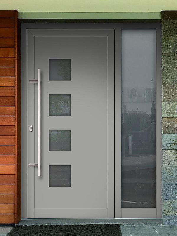 AV-450 hliníkové vchodové dvere s vloženou dvernou výplňou