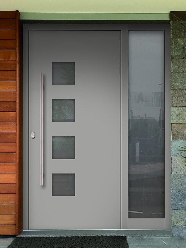 AV-450 hliníkové vchodové dvere s prekrytým krídlom
