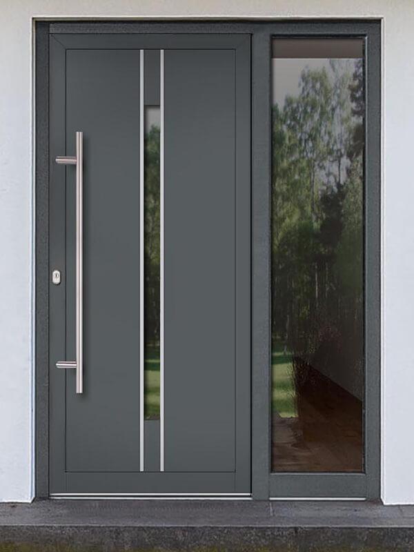 AV-716 hliníkové vchodové dvere s vloženou dvernou výplňou