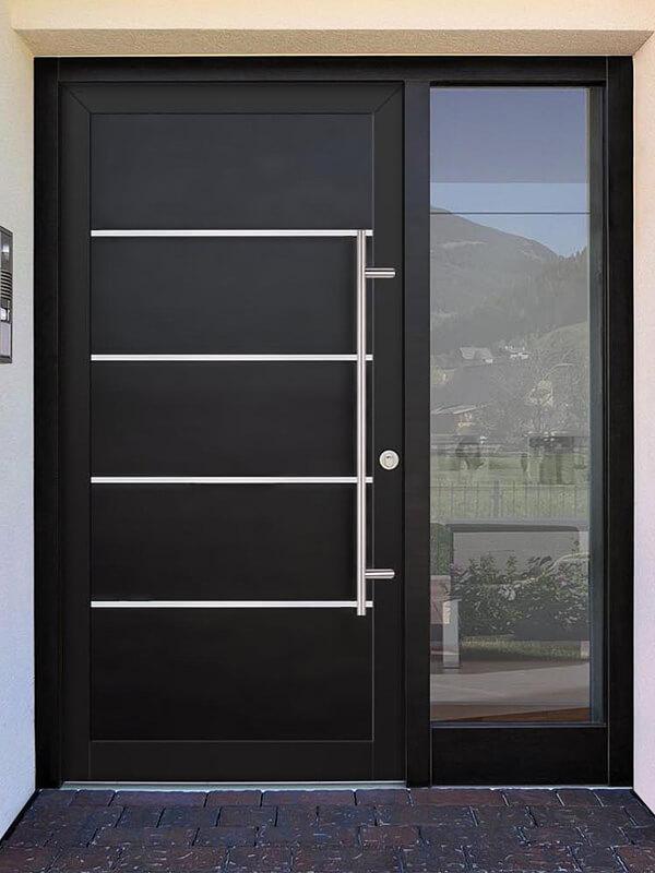 AV-774 hliníkové vchodové dvere s vloženou dvernou výplňou