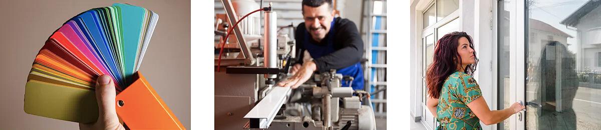 Hliník umožňuje povrchovú úpravu práškovým lakovaním. Hliník má elegantné úzke a pevné profily umožňujúce realizáciu s veľkým presklením.